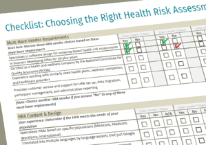 Health Risk Assessment Checklist